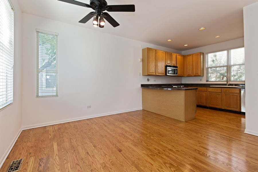 Real Estate Photography - 2847 N Wolcott, Unit #B, Chicago, IL, 60657 - Kitchen / Dining Room
