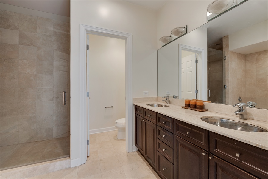 Real Estate Photography - 460 W Superior, Unit 6, Chicago, IL, 60610 - Master Bathroom