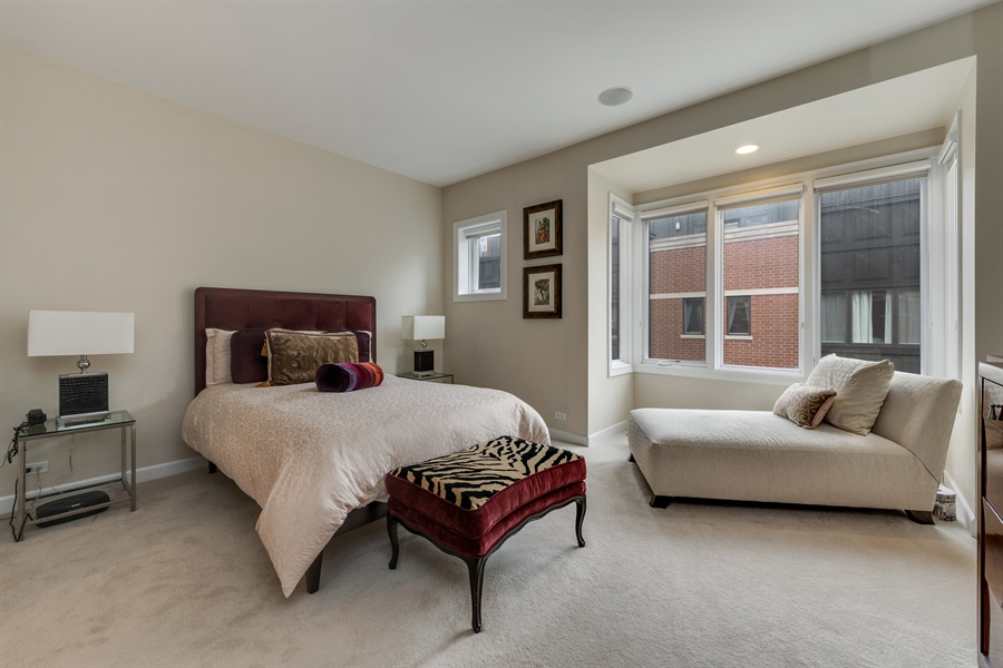 Real Estate Photography - 460 W Superior, Unit 6, Chicago, IL, 60610 - Master Bedroom