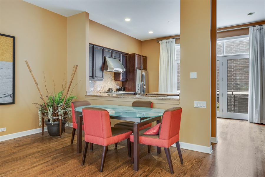 Real Estate Photography - 460 W Superior, Unit 6, Chicago, IL, 60610 - Dining Room