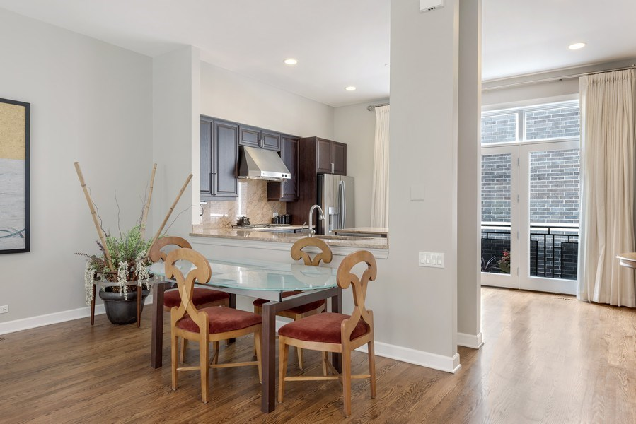 Real Estate Photography - 460 W Superior, Unit 6, Chicago, IL, 60610 - Dining Area