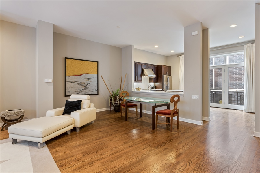 Real Estate Photography - 460 W Superior, Unit 6, Chicago, IL, 60610 - Dining Area 2