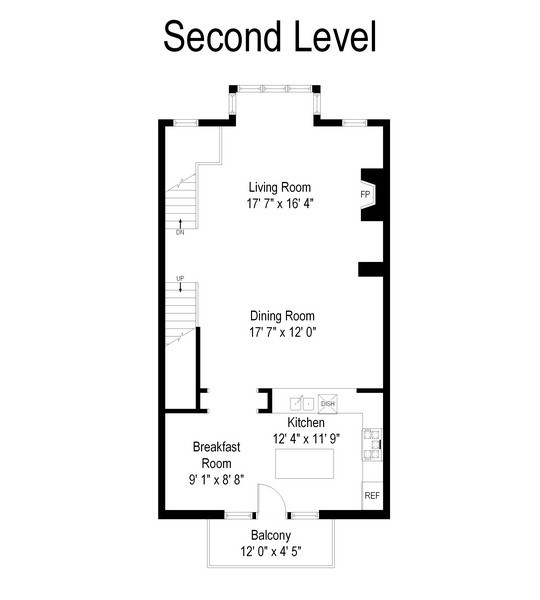 Real Estate Photography - 460 W Superior, Unit 6, Chicago, IL, 60610 - Floor Plan