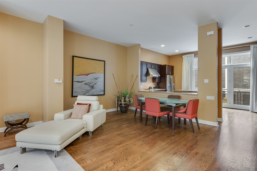 Real Estate Photography - 460 W Superior, Unit 6, Chicago, IL, 60610 - Living Room / Dining Room