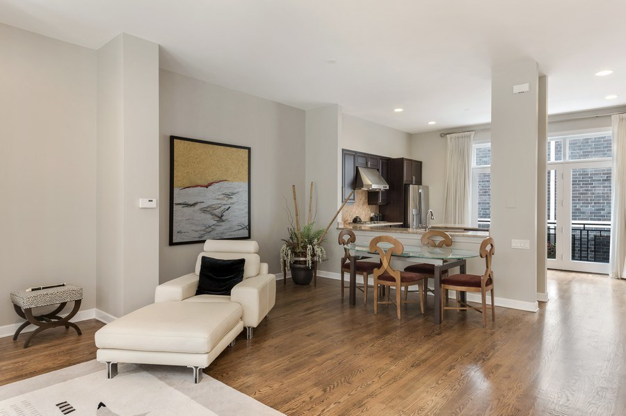 Real Estate Photography - 460 W Superior, Unit 6, Chicago, IL, 60610 - Living Room/Dining Room