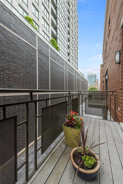 Real Estate Photography - 460 W Superior, Unit 6, Chicago, IL, 60610 - Balcony