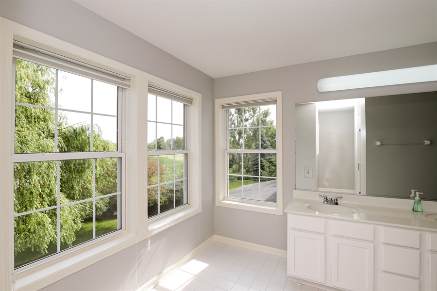 Real Estate Photography - 1128 Hedgerow Dr, Grayslake, IL, 60030 - Master Bathroom