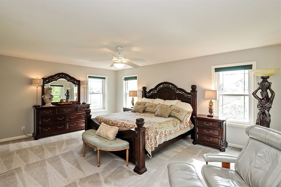 Real Estate Photography - 1128 Hedgerow Dr, Grayslake, IL, 60030 - Master Bedroom