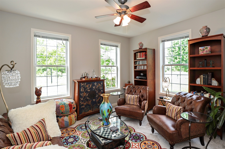 Real Estate Photography - 1128 Hedgerow Dr, Grayslake, IL, 60030 - Den/Office