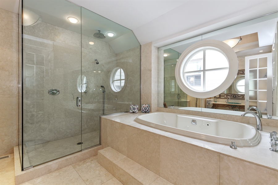 Real Estate Photography - 95 Leonard Wood, Highland Park, IL, 60035 - Master Bathroom