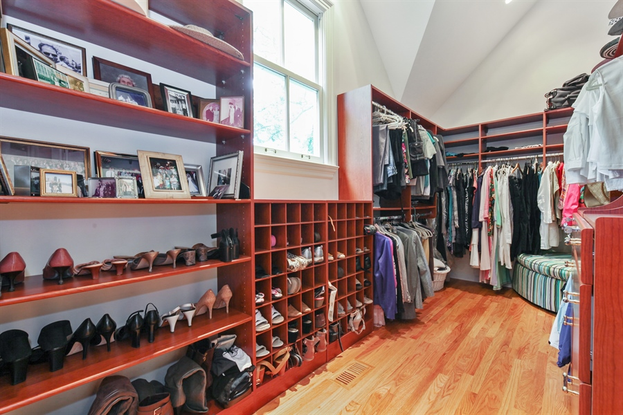 Real Estate Photography - 95 Leonard Wood, Highland Park, IL, 60035 - Master Bedroom Closet