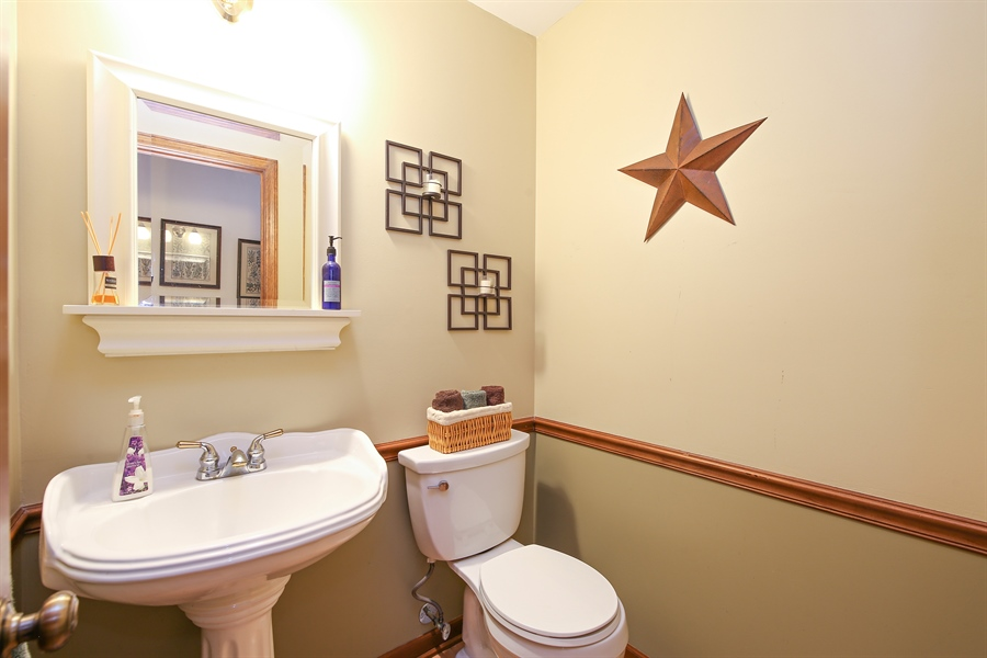 Real Estate Photography - 910 Manley, St Charles, IL, 60174 - Powder Room