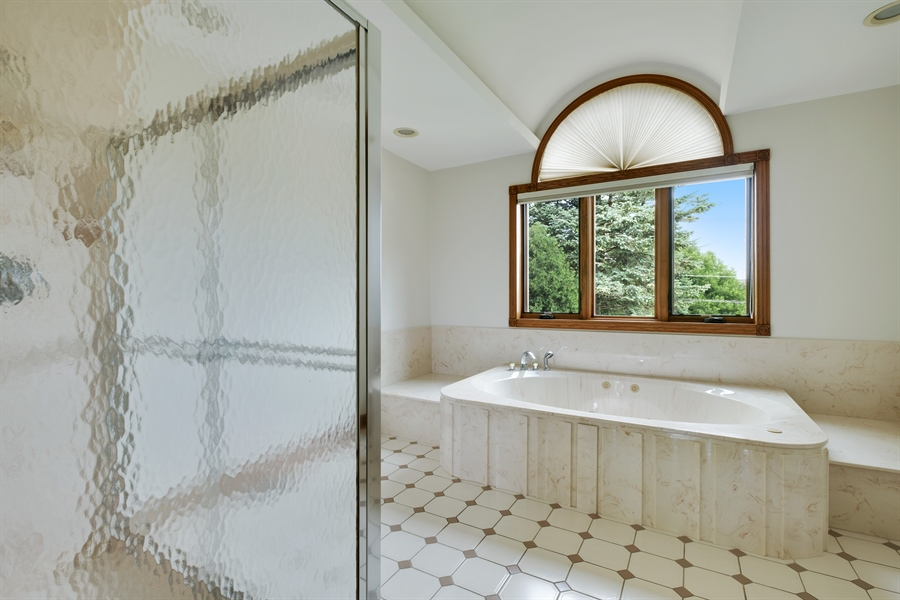 Real Estate Photography - 2323 Old Glenview Rd, Wilmette, IL, 60091 - Master Bathroom