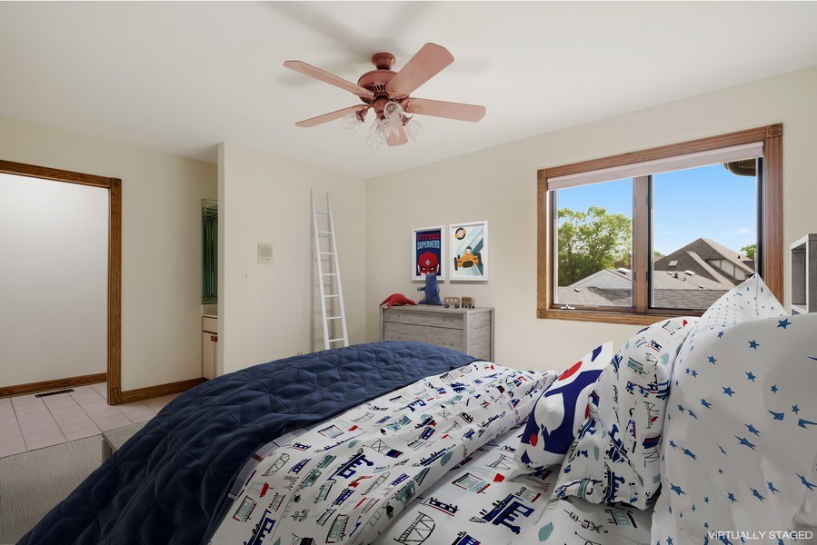 Real Estate Photography - 2323 Old Glenview Rd, Wilmette, IL, 60091 - 3rd Bedroom