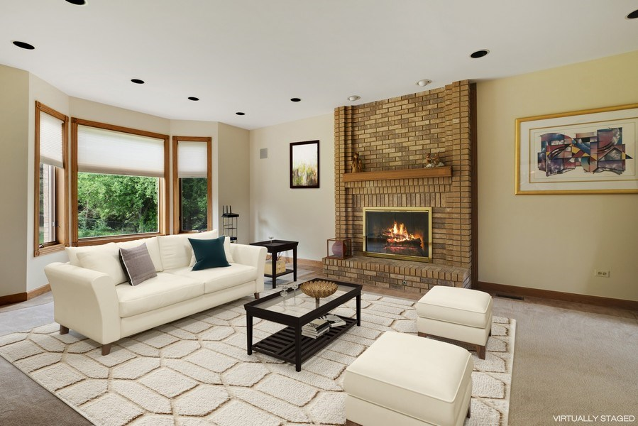 Real Estate Photography - 2323 Old Glenview Rd, Wilmette, IL, 60091 - Family Room