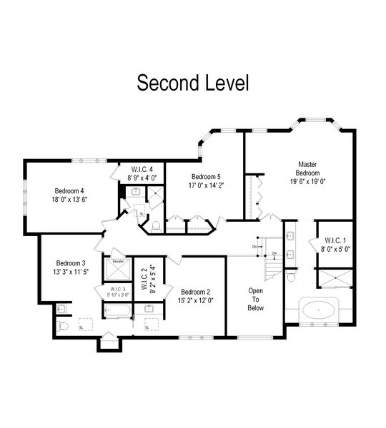 Real Estate Photography - 2323 Old Glenview Rd, Wilmette, IL, 60091 - Floor Plan