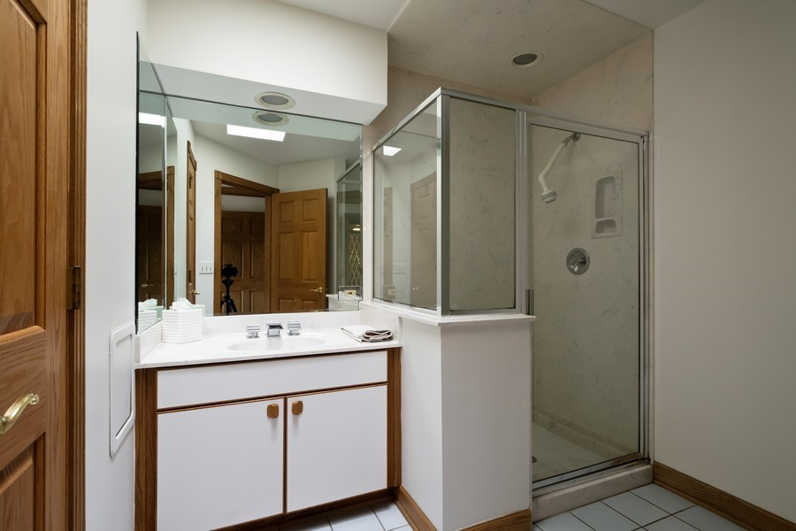 Real Estate Photography - 2323 Old Glenview Rd, Wilmette, IL, 60091 - Bathroom