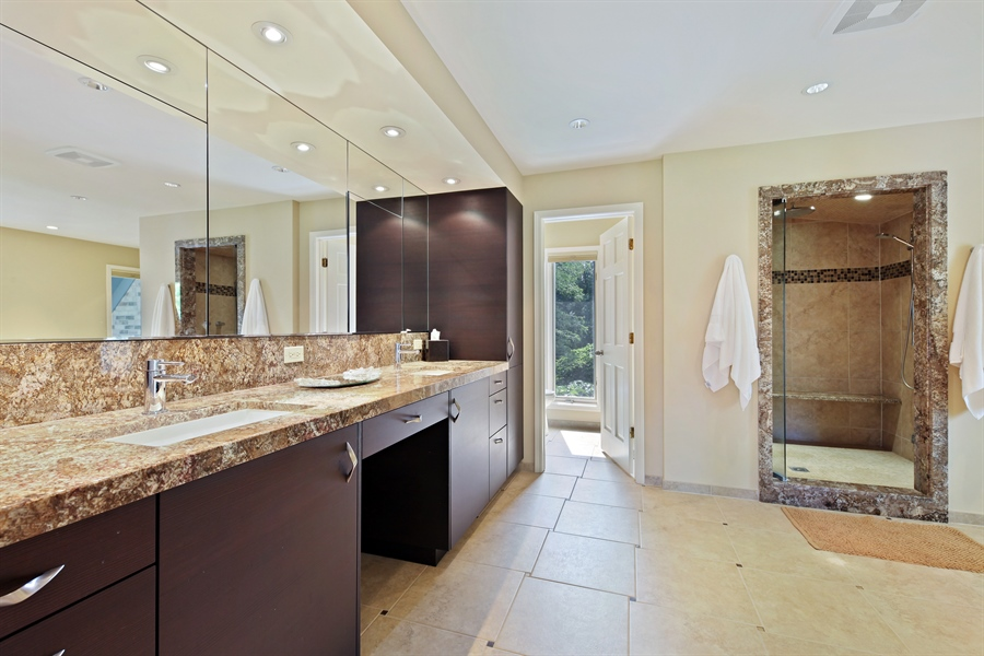 Real Estate Photography - 2389 Tennyson Ln, Highland Park, IL, 60035 - Master Bathroom
