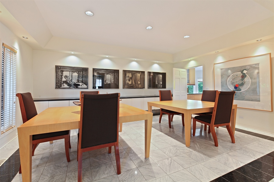 Real Estate Photography - 2389 Tennyson Ln, Highland Park, IL, 60035 - Dining Room