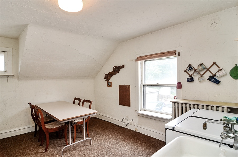 Real Estate Photography - 117 S Taylor, Oak Park, IL, 60302 - Guest House Kitchen/Dining Area