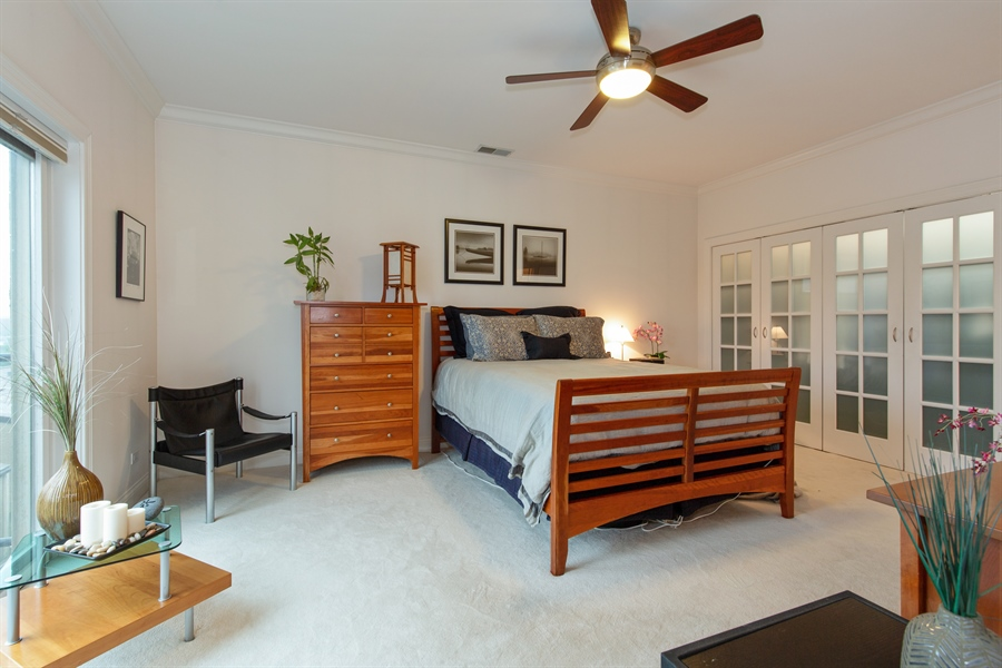 Real Estate Photography - 1654 N. Mohawk, 3, Chicago, IL, 60614 - Master Bedroom