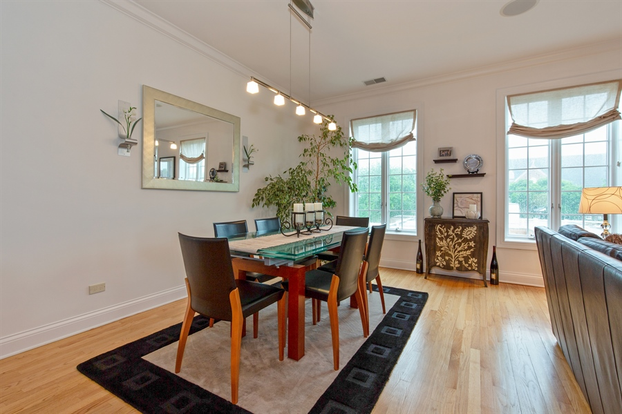 Real Estate Photography - 1654 N. Mohawk, 3, Chicago, IL, 60614 - Dining Room