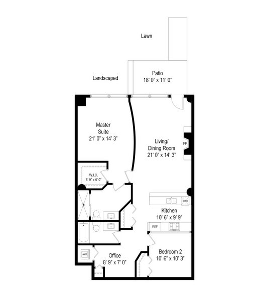 Real Estate Photography - 1151 W 14th, 102, Chicago, IL, 60608 - Floor Plan