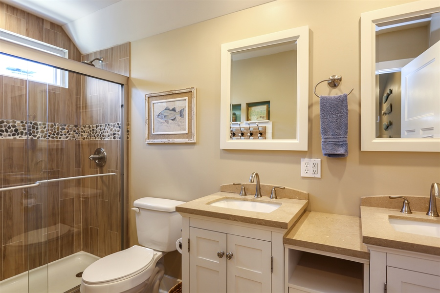 Real Estate Photography - 116 N. Lake Ave, Michigan City, IN, 46360 - 2nd Bathroom