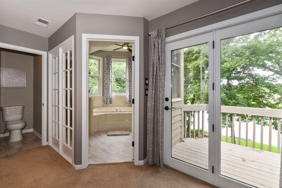 Real Estate Photography - 1587 Far Hills Dr, Bartlett, IL, 60103 - Master En Suite with a Private Balcony