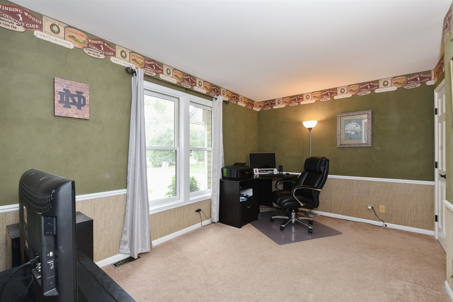Real Estate Photography - 1587 Far Hills Dr, Bartlett, IL, 60103 - 1st Floor Office or 4th Bedroom with En Suite