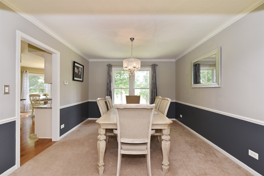 Real Estate Photography - 1587 Far Hills Dr, Bartlett, IL, 60103 - Dining Room with Gorgeous Lake Views