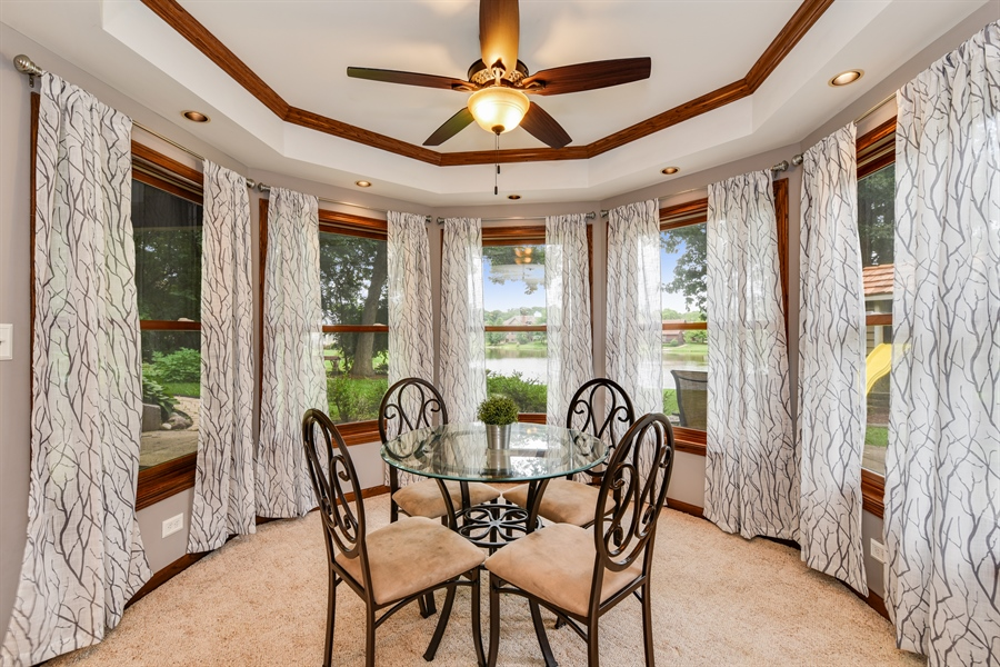 Real Estate Photography - 1587 Far Hills Dr, Bartlett, IL, 60103 - Lower Level Game Area Overlooking the Lake