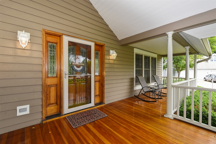 Real Estate Photography - 1587 Far Hills Dr, Bartlett, IL, 60103 - Front Porch with HGTV Worthy Style