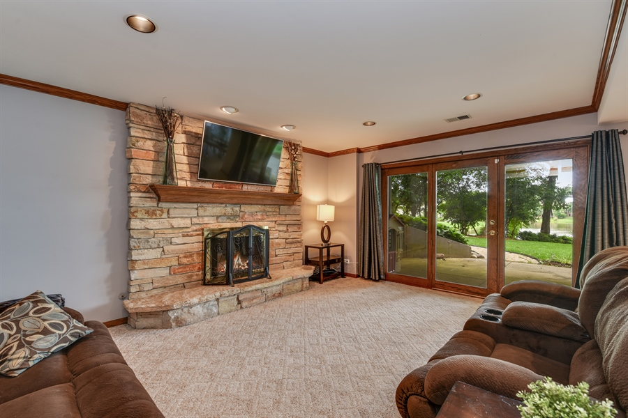 Real Estate Photography - 1587 Far Hills Dr, Bartlett, IL, 60103 - Lower Level Family Room with Spectacular Views