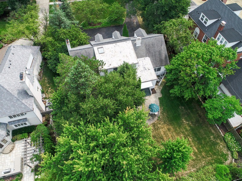 Real Estate Photography - 730 S. Garfield, Hinsdale, IL, 60521 - Aerial View