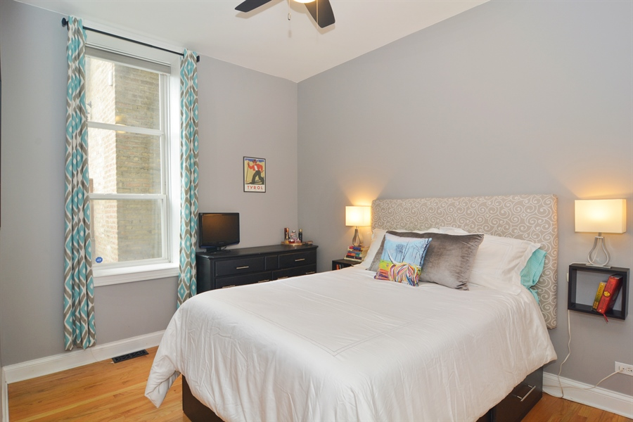 Real Estate Photography - 1532 N Paulina, Unit L, Chicago, IL, 60622 - Master Bedroom