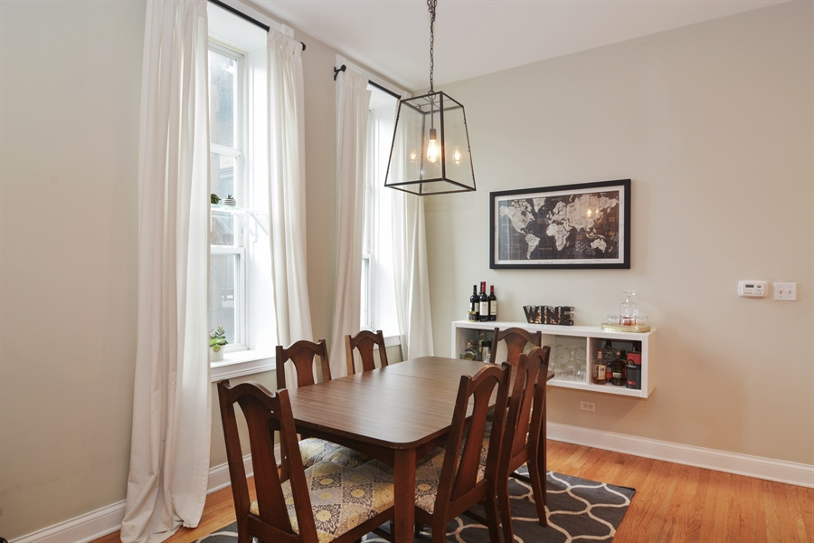 Real Estate Photography - 1532 N Paulina, Unit L, Chicago, IL, 60622 - Dining Room