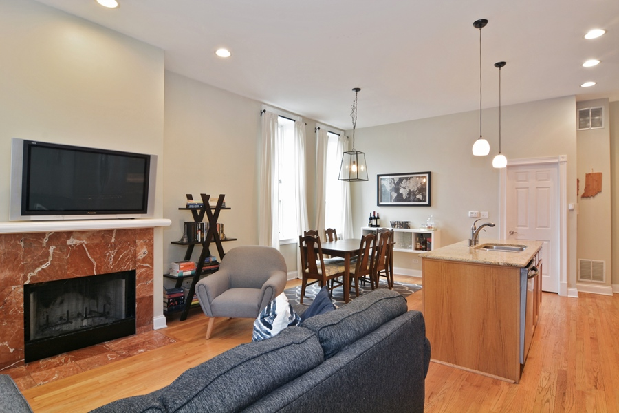 Real Estate Photography - 1532 N Paulina, Unit L, Chicago, IL, 60622 - Living Room / Dining Room