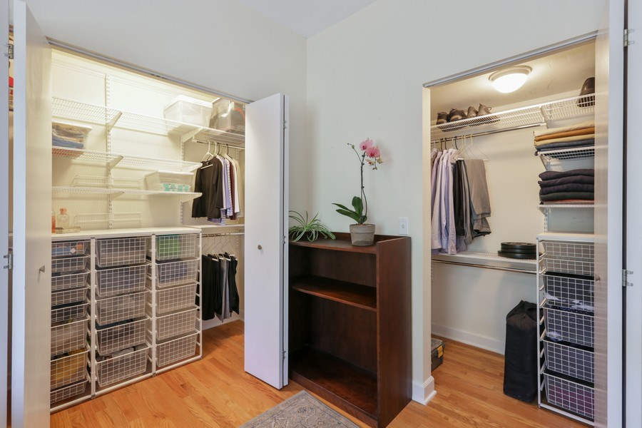Real Estate Photography - 1003 Hinman, Evanston, IL, 60202 - Master Bedroom Closets
