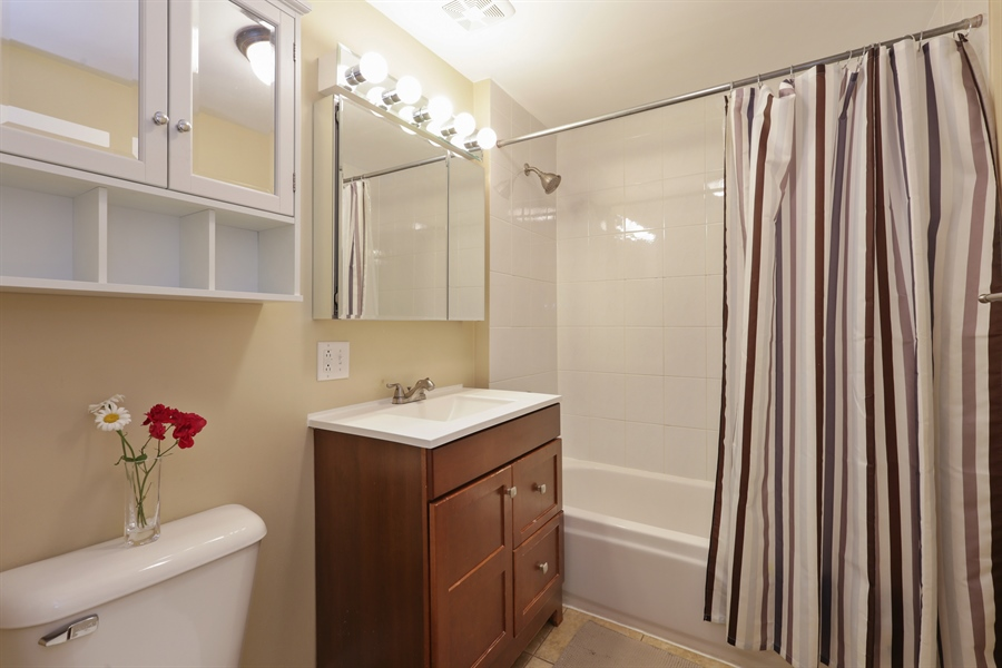 Real Estate Photography - 1003 Hinman, Evanston, IL, 60202 - 2nd Bathroom