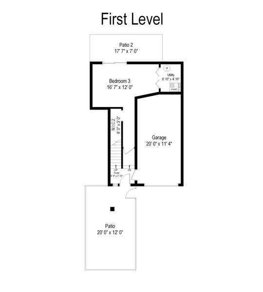 Real Estate Photography - 1835 N Halsted, unit 4, Chicago, IL, 60614 - Floor Plan
