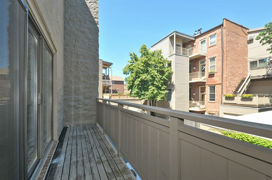 Real Estate Photography - 1835 N Halsted, unit 4, Chicago, IL, 60614 - Balcony