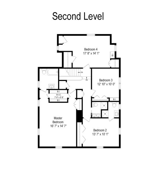 Real Estate Photography - 349 Woodland, Highland Park, IL, 60035 - Second Level Floor Plan