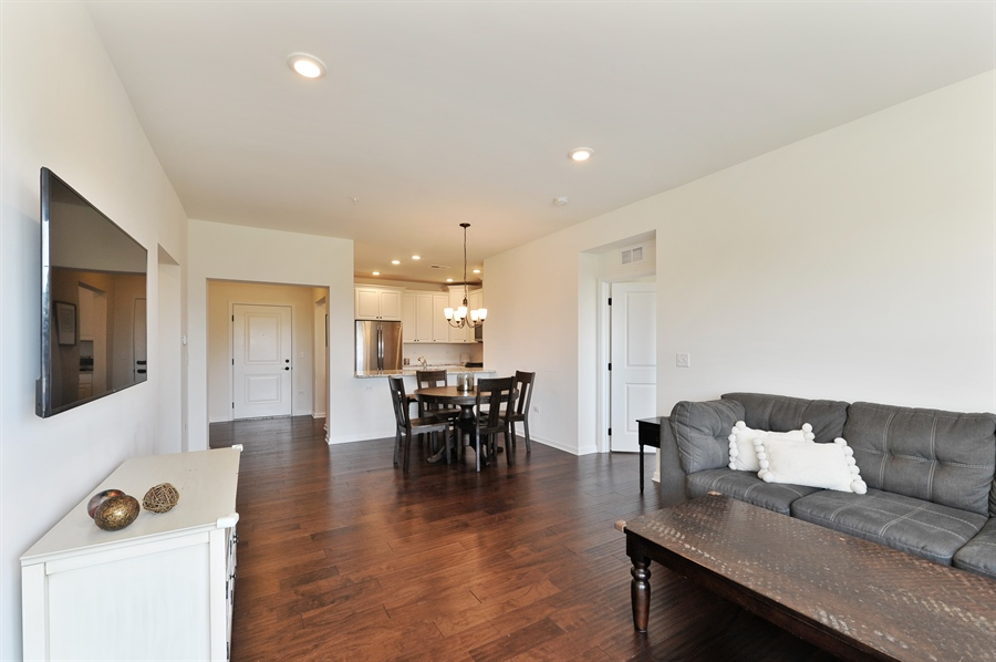 Real Estate Photography - 2701 Common Dr., 207, Glenview, IL, 60026 - Living Room/Dining Room
