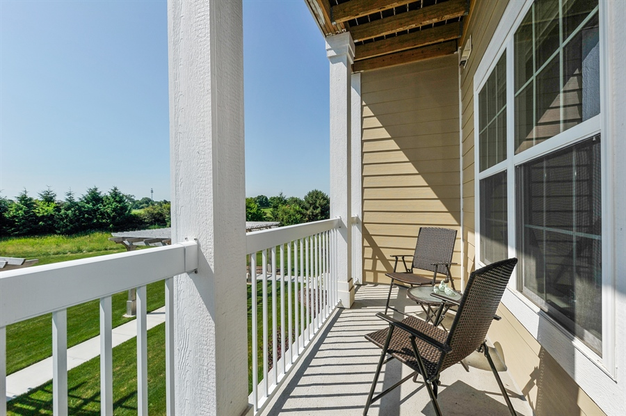 Real Estate Photography - 2701 Common Dr., 207, Glenview, IL, 60026 - Balcony