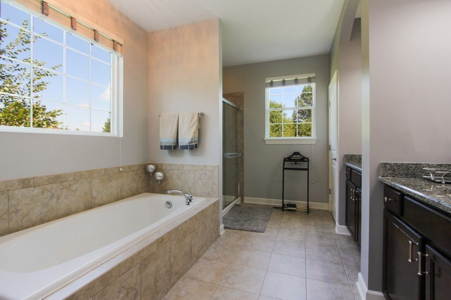 Real Estate Photography - 23585 N. Sanctuary Club Drive, Kildeer, IL, 60047 - Master Bathroom
