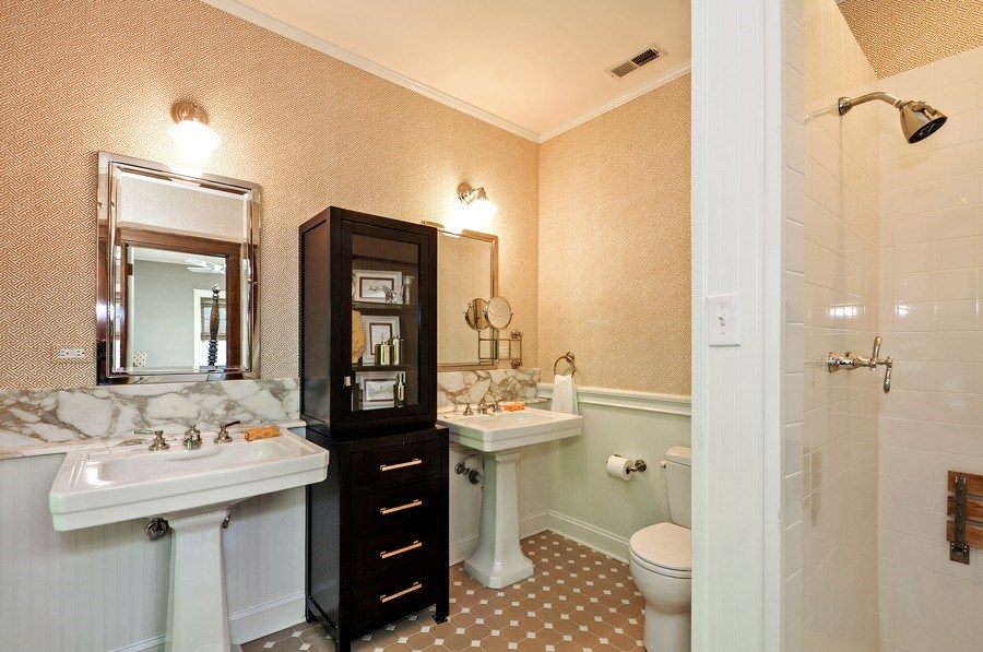 Real Estate Photography - 2041 W Byron, Chicago, IL, 60618 - Master Bathroom