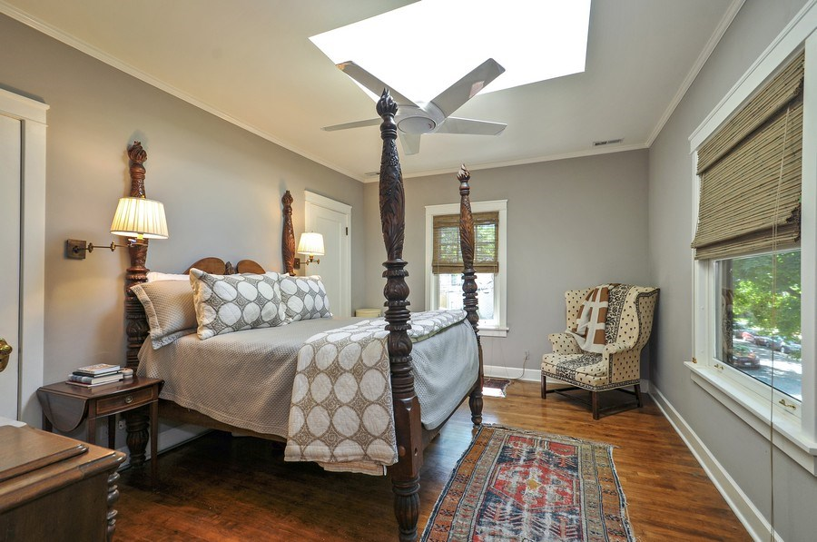 Real Estate Photography - 2041 W Byron, Chicago, IL, 60618 - Master Bedroom
