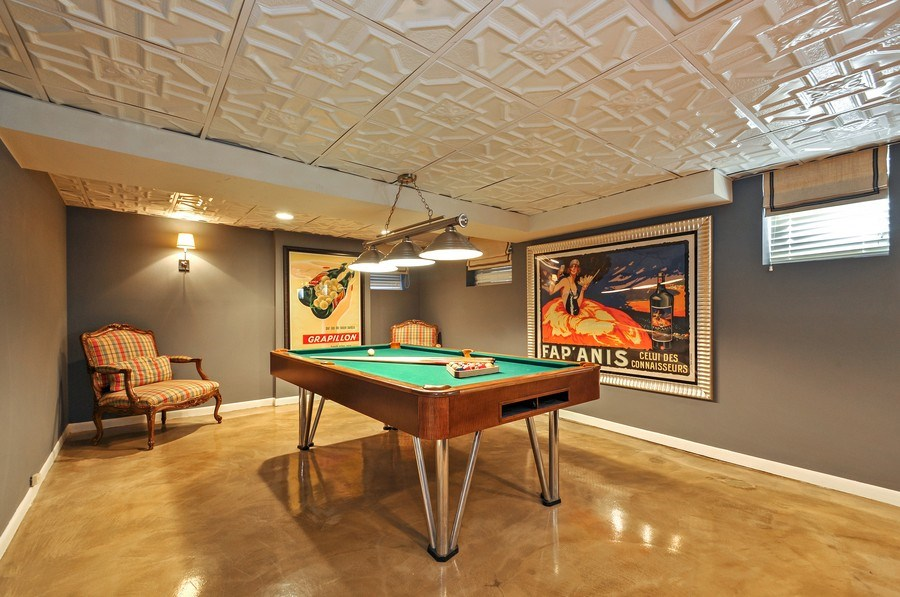 Real Estate Photography - 2041 W Byron, Chicago, IL, 60618 - Lower Level Rec Room