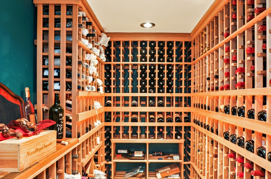 Real Estate Photography - 2041 W Byron, Chicago, IL, 60618 - Wine Cellar